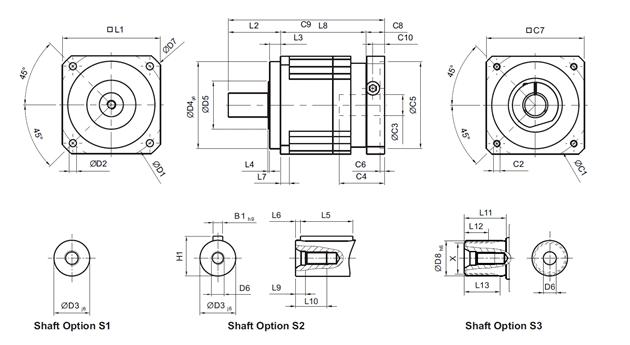 Afmetingen AB serie 1-traps