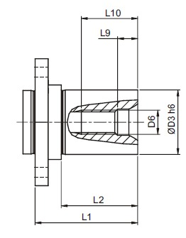 afmeting-ah-flange-shaft