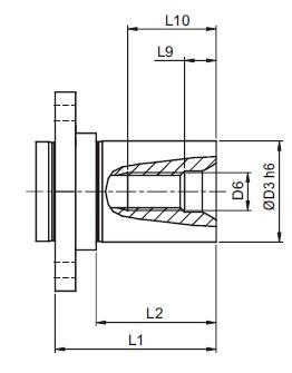 afmeting-ah-flange-shaft