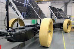 Solar panelen op de Solar Voyager