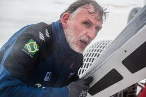 Edwin op IJsland tijdens de test