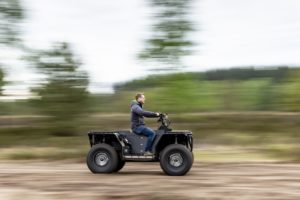 Gearbox in innovative, hybrid Quad for the military