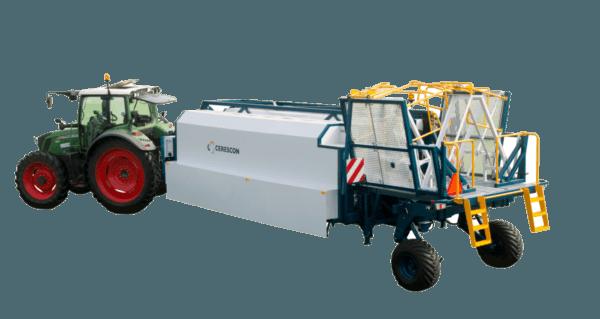 de Sparter, een volautomatisch asperge oogst machine